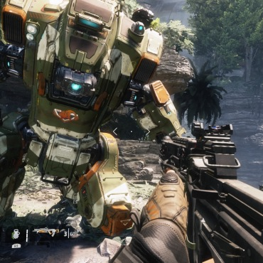 Titanfall 2: BeeTee. taking a knee to chat.